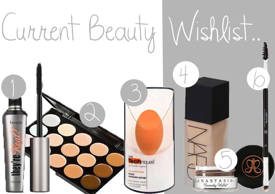 current beauty wishlist