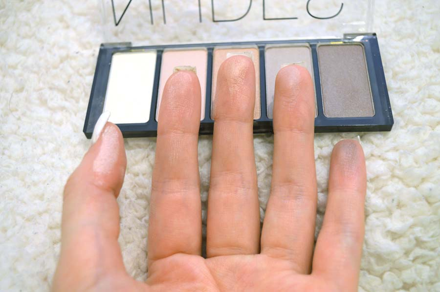H&M nude palette swatches