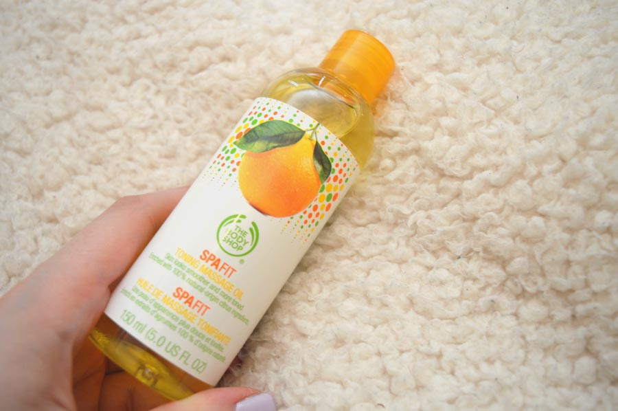 Body Shop toning Massage Oil Review