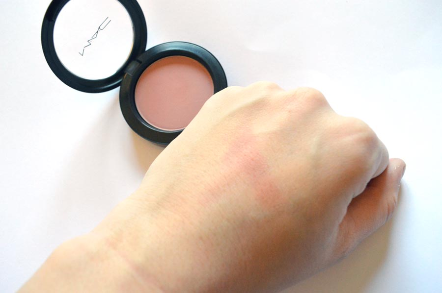 mac blush baby swatch