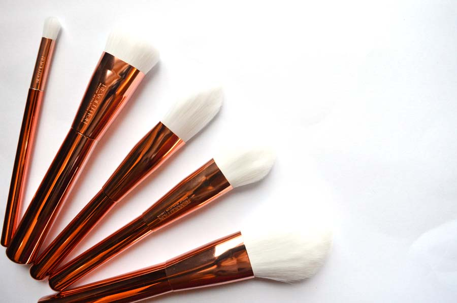 makeup revolution rose gold brushes