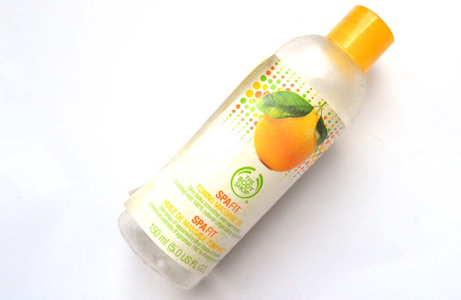 the body shop spa fit massage oil