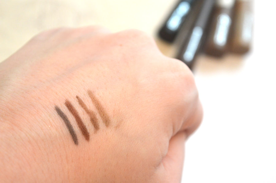 Rimmel brow shake filling powder swatch